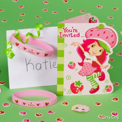 Strawberry Shortcake Invite with Favor Idea