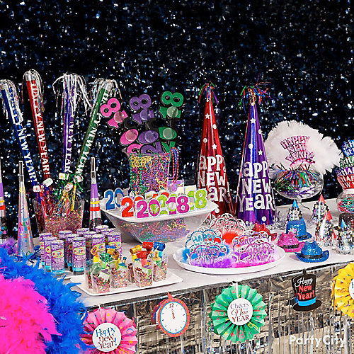 Colorful NYE Wearables Table - Party City