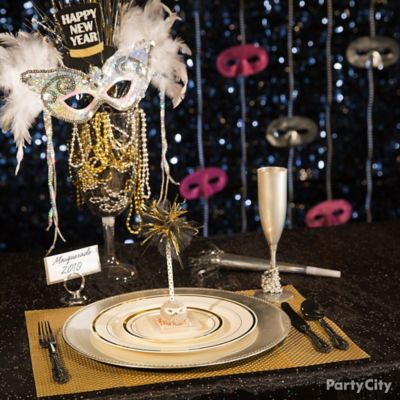 Nye Masquerade Centerpiece Idea Party City