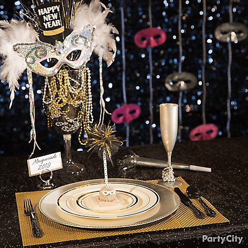 NYE Masquerade Table Idea Party City