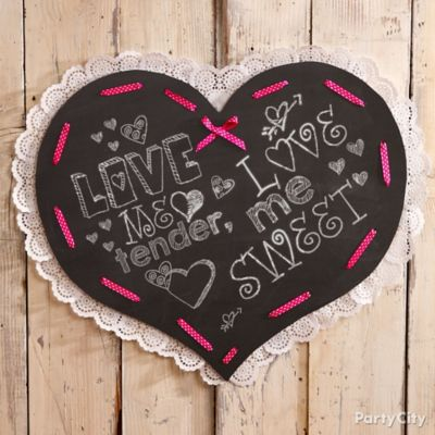 DIY Heart Chalkboard Idea