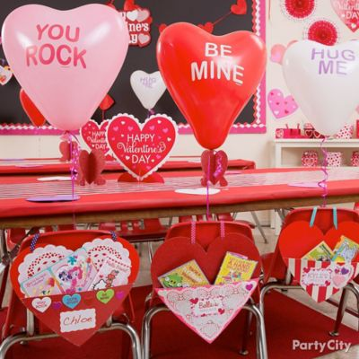 Valentine's Day Classroom Balloon Chair Decorating Idea
