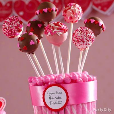 Valentine's Day Cake Pops Idea