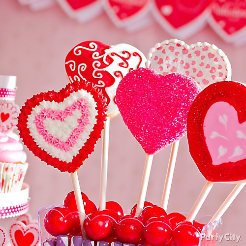 Heart Cookie Pops Idea