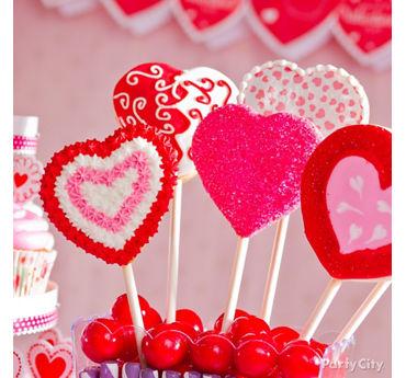 Heart Cookie Pops Idea