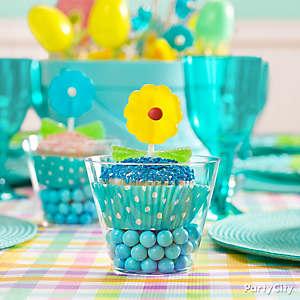 Candy Flower Cupcake Cup Idea