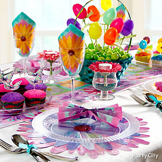 Colorful Easter Table Idea