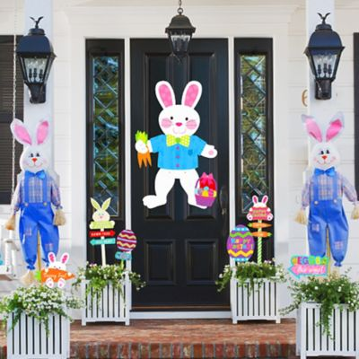 Easter Bunny Door and Entrance Deco Idea
