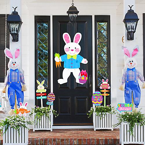 Easter Bunny Door and Entrance Deco Idea