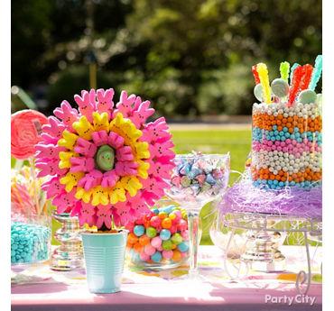 Easter Candy Buffet Idea