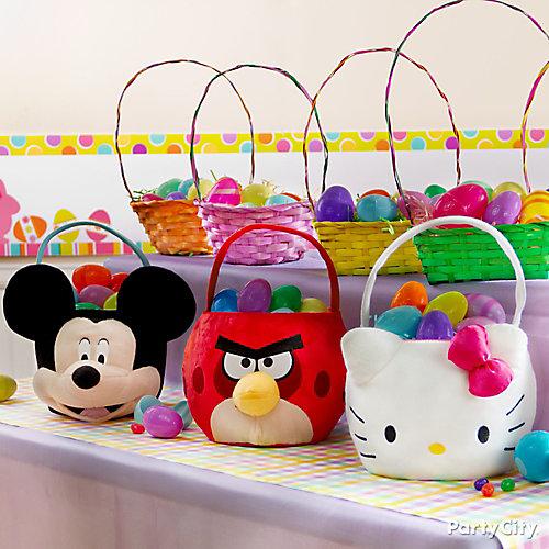 Character Easter Baskets Idea