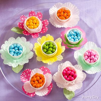 Easter Candy Flower Favors Idea