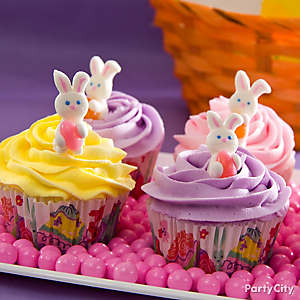 Easter Bunny Pastel Cupcakes Idea