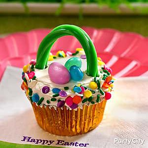 Easter Basket Cupcake Idea