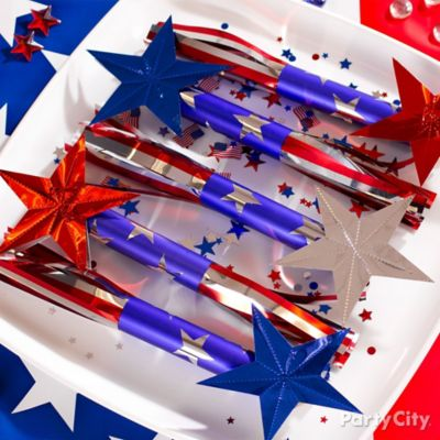 4th of July Candy Rockets Idea