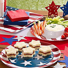Star Shaped Finger Sandwiches Idea