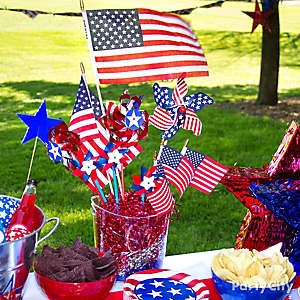 4th of July Old Glory Centerpiece Idea