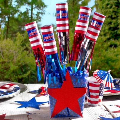 DIY 4th of July Party Poppers Centerpiece Idea