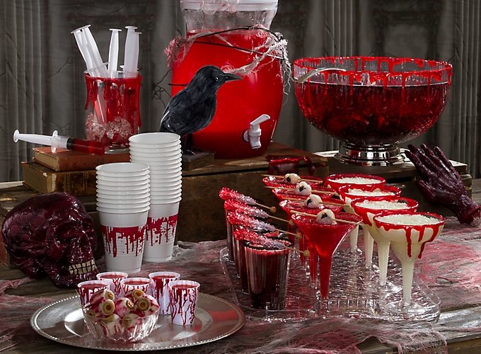bloody good drink ideas - Bloody Halloween Decorations