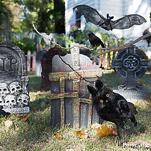 Halloween Tombstones & Flying Critters Idea