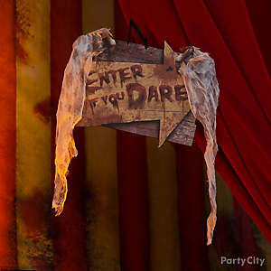 Halloween Creepy Carnival Entrance Sign Idea