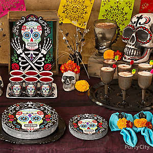 Day of the Dead Buffet Table Idea