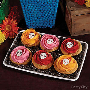 Day of the Dead Sugar Skull Rosette Cookies How To