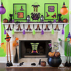 Halloween Witch Mantel Idea