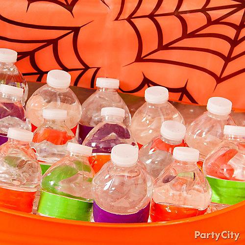 Colorful Waterbottle Label Idea
