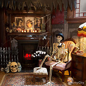 Haunted House Skeleton Parlor Idea