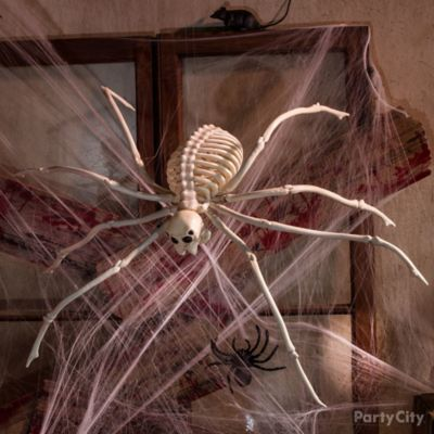 Haunted House Giant Spider & Web Idea