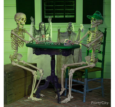 Halloween Skeleton Poker Table Idea