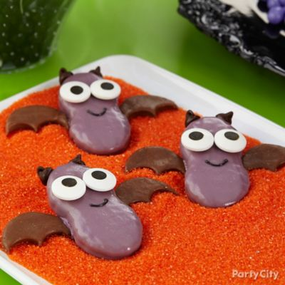 Friendly Candy Dipped Bat Cookies How To