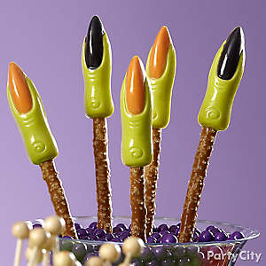 Friendly Witch's Fingers Pretzel Pops How To