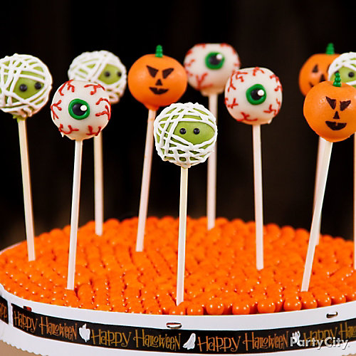 Friendly Monster Halloween Cake Pops