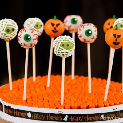 Decorating Cake Pops Halloween : Friendly Monster Halloween Cake Pops - Friendly Halloween ...