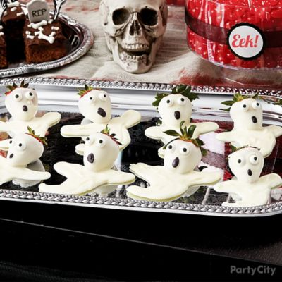 Scary Ghosts White Candy Covered Strawberries How To