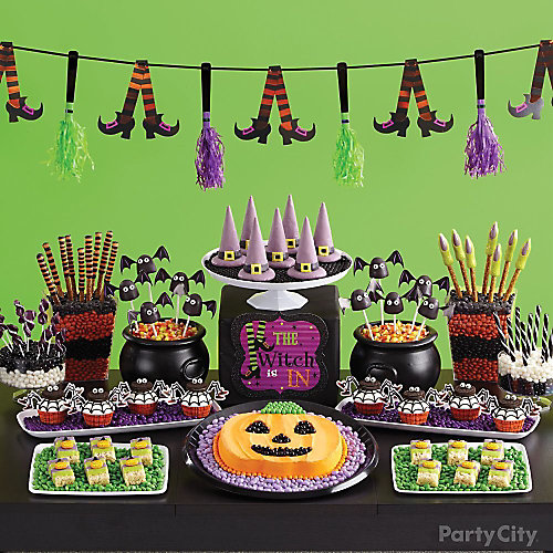 Witch's Crew Sweets & Treats Table Idea