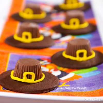Pilgrim Hat Cookie Idea