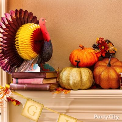 Make A Gobbledy Good Display Decorate Your Mantel With A Colorful New Turkey  Friend!