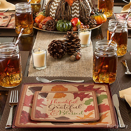 Thanksgiving party decoration ideas city
