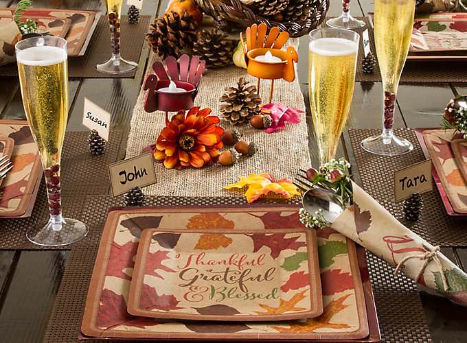 Rustic thanksgiving decorating ideas party city