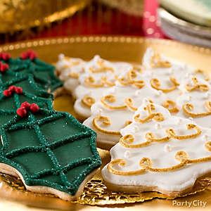 Gilded Christmas Cookies Idea