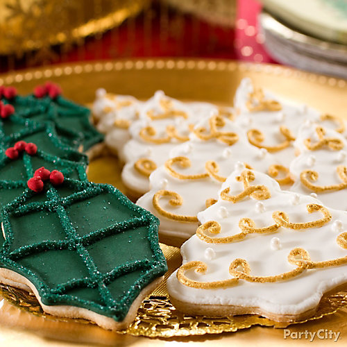 Gilded Christmas Cookies Idea