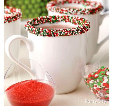 Chocolate Rim Cocoa Mugs Idea