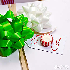 Peppermint Gift Tag Idea