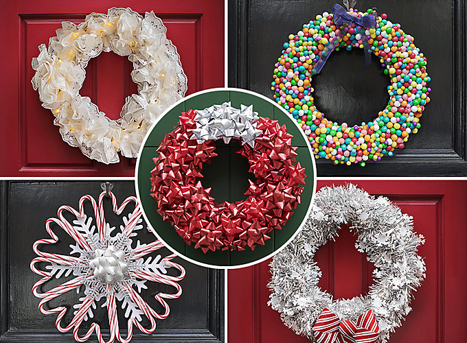 Diy Christmas Decor For School : Diy christmas wreath ideas party city