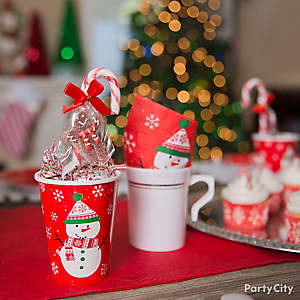 Friendly Snowman Candy Favor Cups Idea