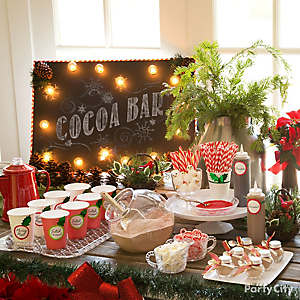 Hot Chocolate Station Party Idea