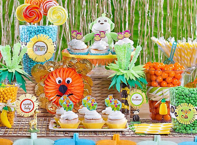 Jungle Animals Candy Buffet Ideas